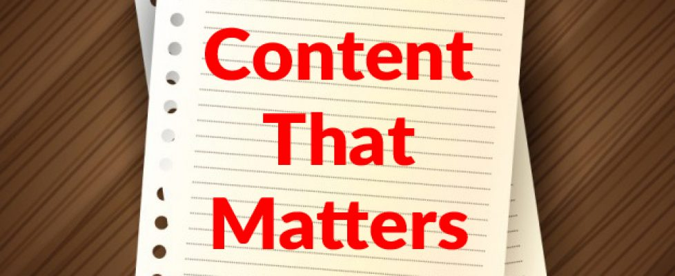 content-that-matters